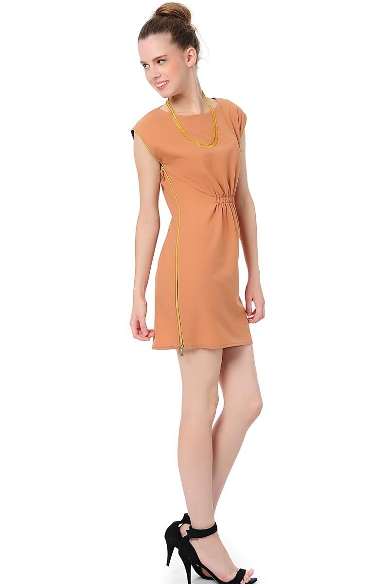 Yeni Elbisem Pudra YE-12Y077P Bayan Elbise