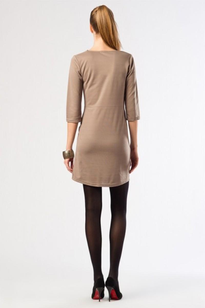 Yeni Elbisem Bej YE-12K013B Bayan Elbise