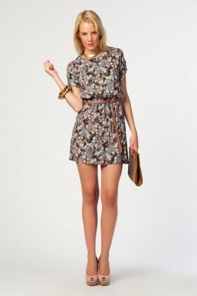 Yeni Elbisem Kahverengi YE-11Y1421 Bayan Elbise