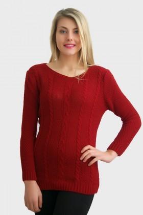 Yeni Elbisem Bordo Ü-2396 Bayan Kazak