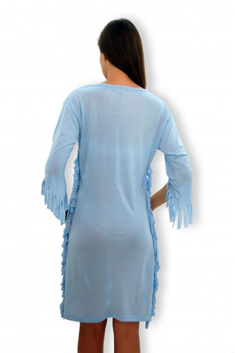 Yeni Elbisem Mavi YEE-40344 Bayan Elbise