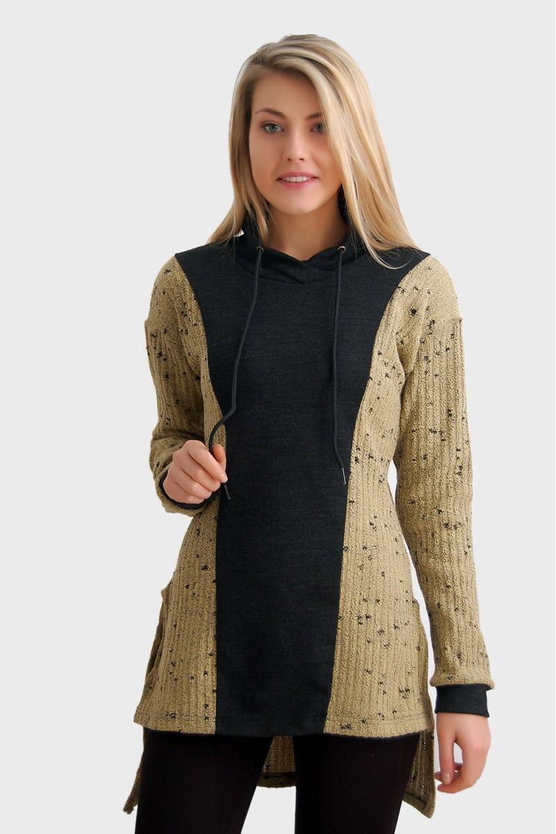 Yeni Elbisem Karışık Renkli Ü-2506 Bayan Kazak