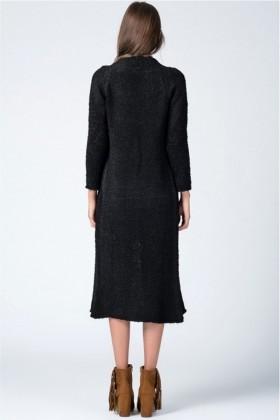 Yeni Elbisem Siyah YEE-9995 Bayan Hırka
