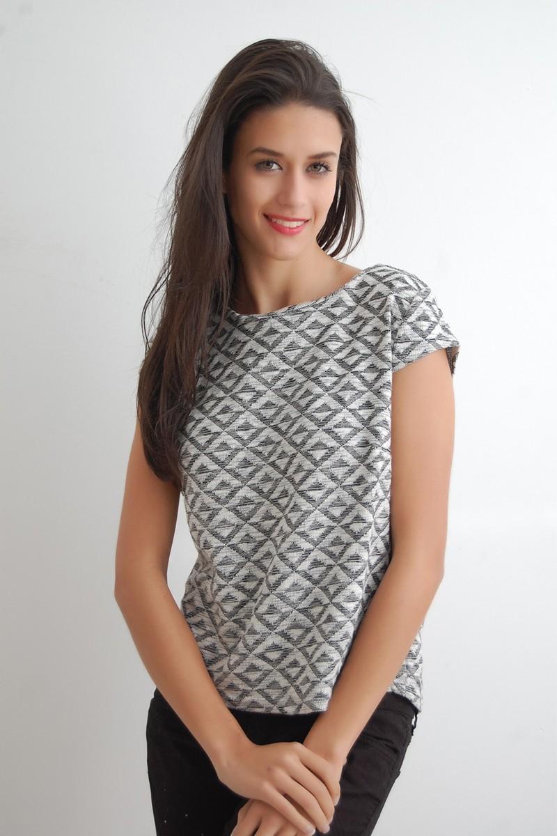 Yeni Elbisem Gri Ü-9957 Bayan Tişört