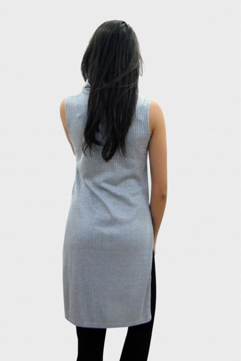Yeni Elbisem Gri Ü-9772 Bayan Tunik