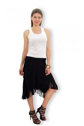 Yeni Elbisem Siyah Ü-9545 Bayan Etek