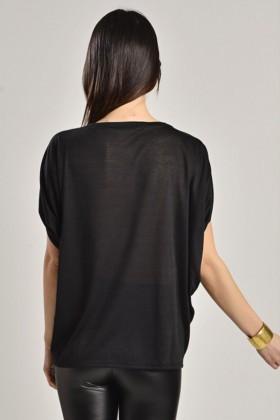 Yeni Elbisem Siyah YEE-7116 Bayan Bluz