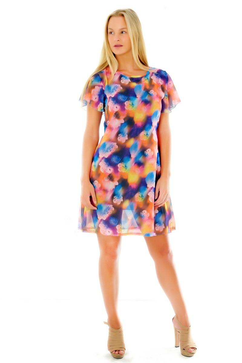 Yeni Elbisem Karışık Renkli Ü-9263 Bayan Elbise