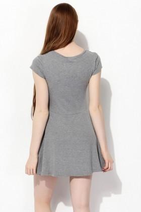 Yeni Elbisem Gri YEE-6970 Bayan Elbise