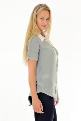 Yeni Elbisem Gri Ü-9260 Bayan Gömlek
