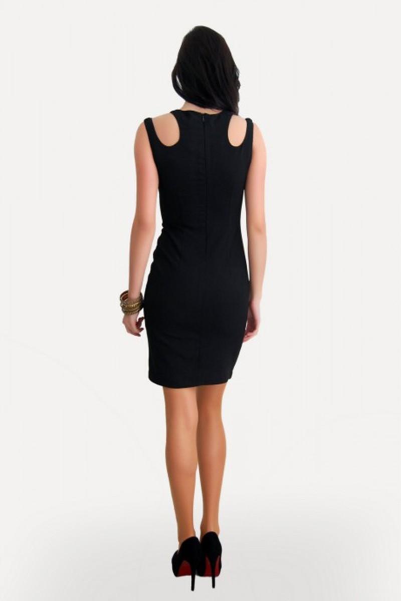 Yeni Elbisem Siyah Ü-5306 Bayan Elbise