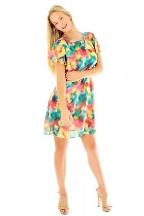 Yeni Elbisem Karışık Renkli YEE-92044 Bayan Elbise
