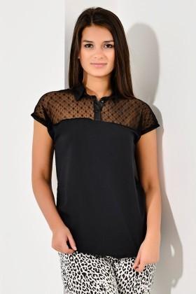 Yeni Elbisem Siyah Ü-8081 Bayan Bluz