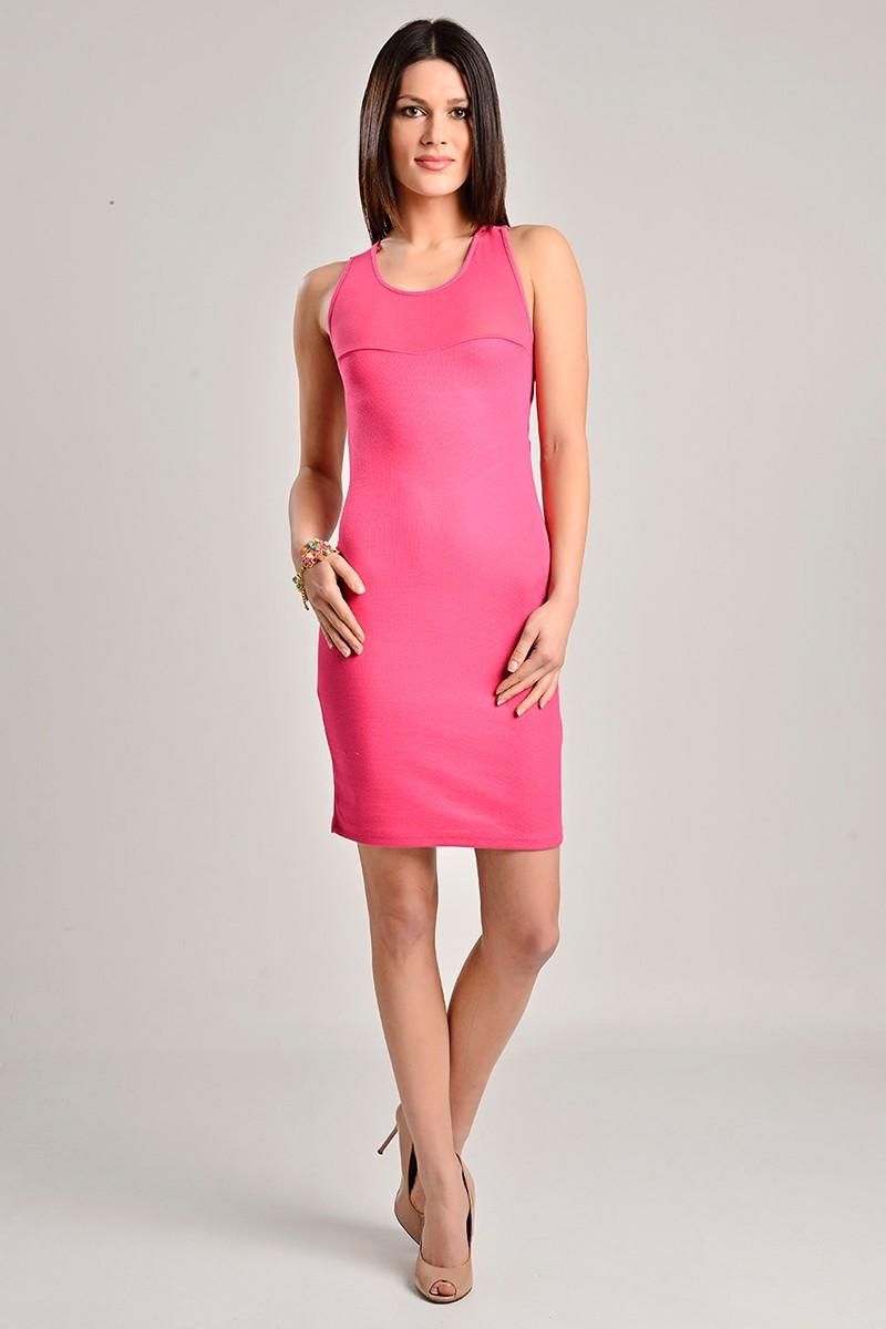Yeni Elbisem Fuşya YEE-7225 Bayan Elbise