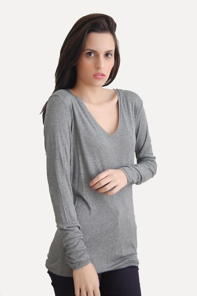 Yeni Elbisem Gri Ü-5253 Bayan Bluz