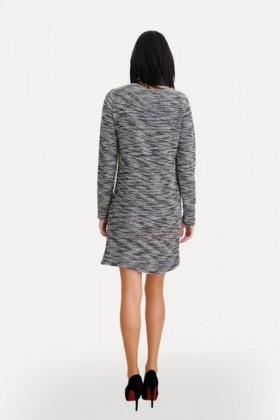 Yeni Elbisem Gri Ü-5185 Bayan Elbise