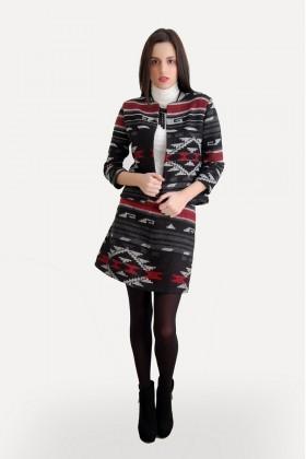 Yeni Elbisem Hardal Ü-5167 Bayan Etek Takım