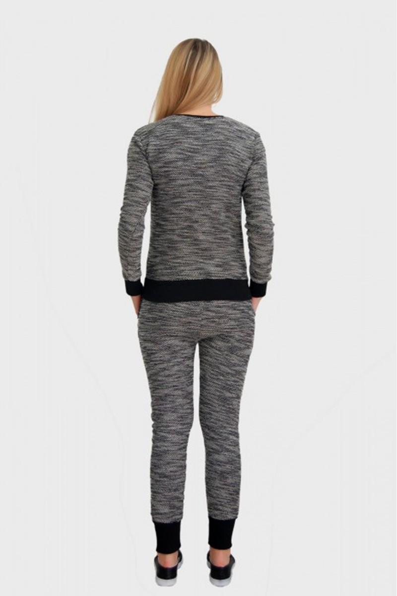 Yeni Elbisem Gri Ü-5078 Bayan Eşofman Takımı
