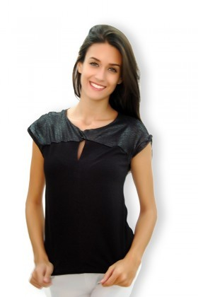 Yeni Elbisem Siyah Ü-4468 Bayan Bluz