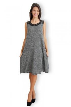 Yeni Elbisem Gri Ü-4349 Bayan Elbise
