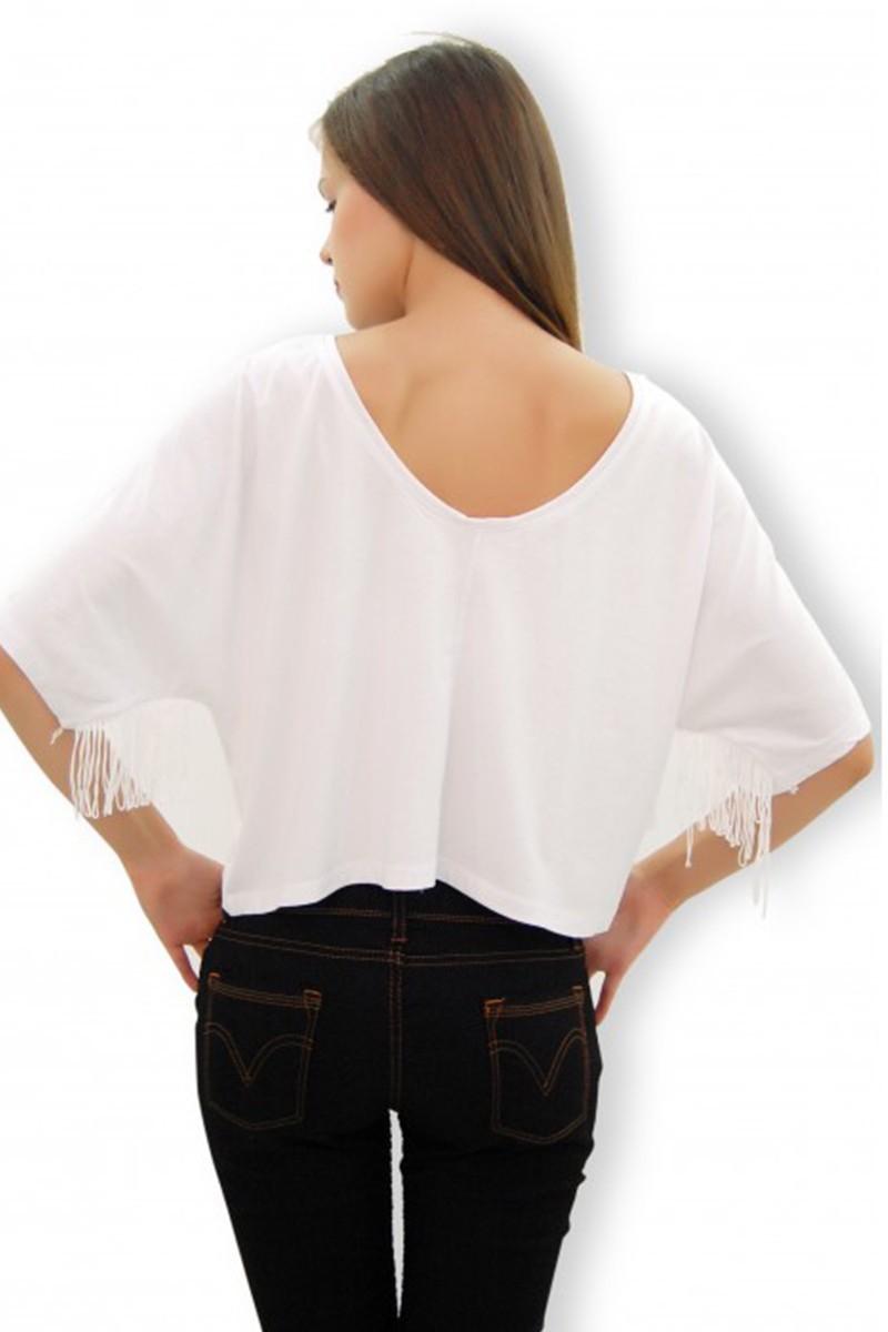 Yeni Elbisem Beyaz Ü-4144 Bayan Tişört
