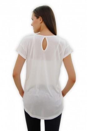 Yeni Elbisem Beyaz Ü-4118 Bayan Tişört