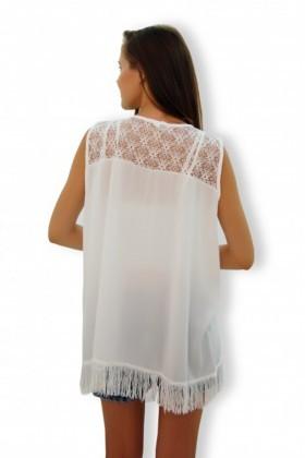 Yeni Elbisem Beyaz Ü-4112 Bayan Tunik