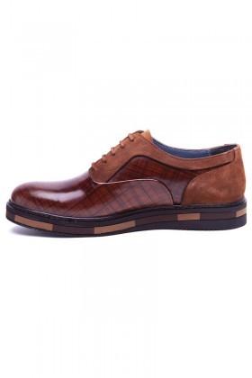 BLUESOIL Taba BS-20-37 Hakiki Deri Erkek Ayakkabı