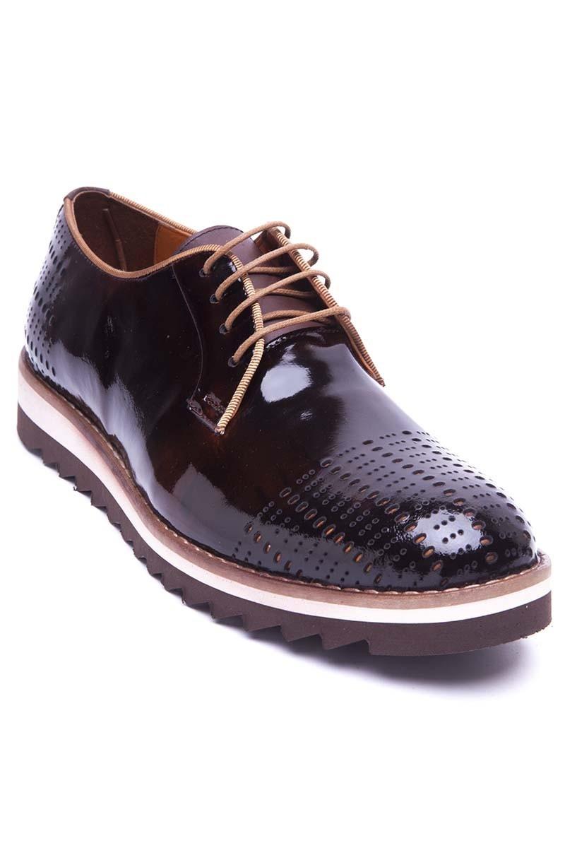 Pandew Kahverengi PNDW-800-10-KAHVE Hakiki Deri Erkek Ayakkabı
