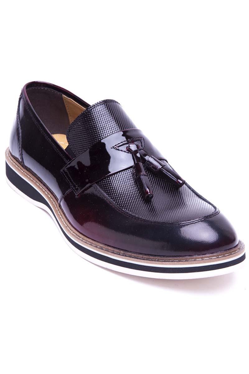 Pandew Bordo PNDW-00265 Hakiki Deri Erkek Ayakkabı