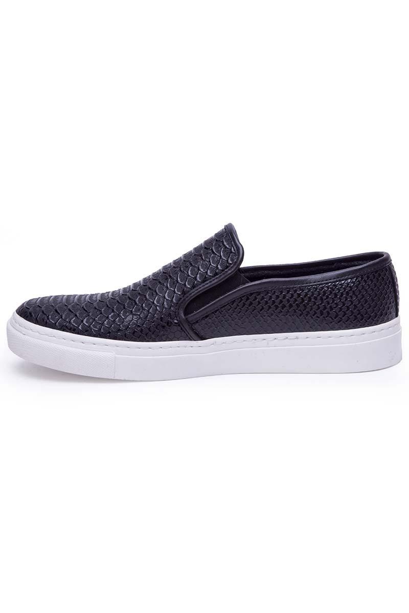 BLUESOIL Siyah BS-20-044-YILAN Erkek Ayakkabı