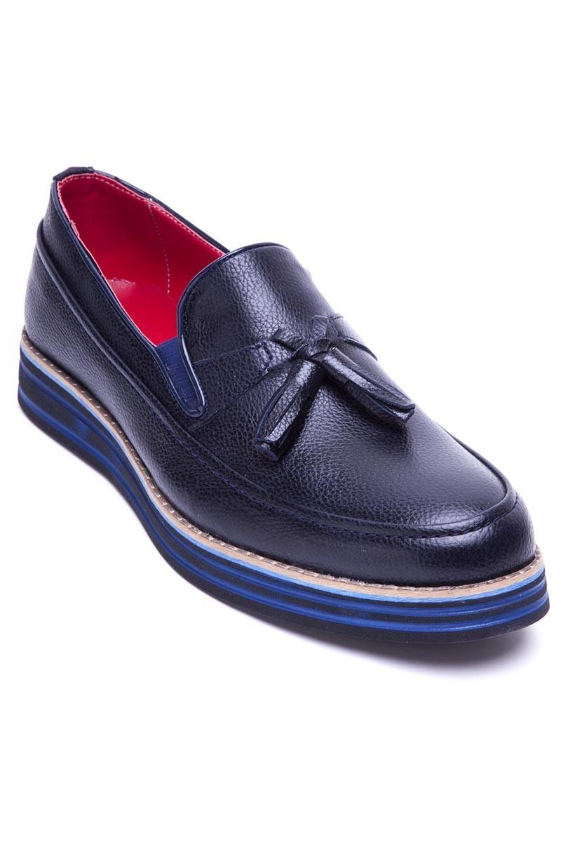 BLUESOIL Lacivert BS-20-012-DERI Erkek Ayakkabı