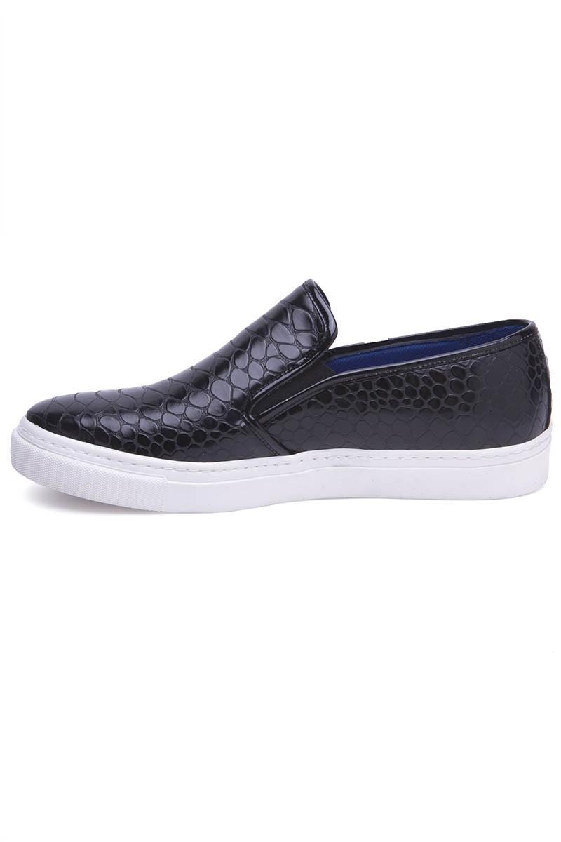 BLUESOIL Siyah BS-20-044-DESENLI Erkek Ayakkabı