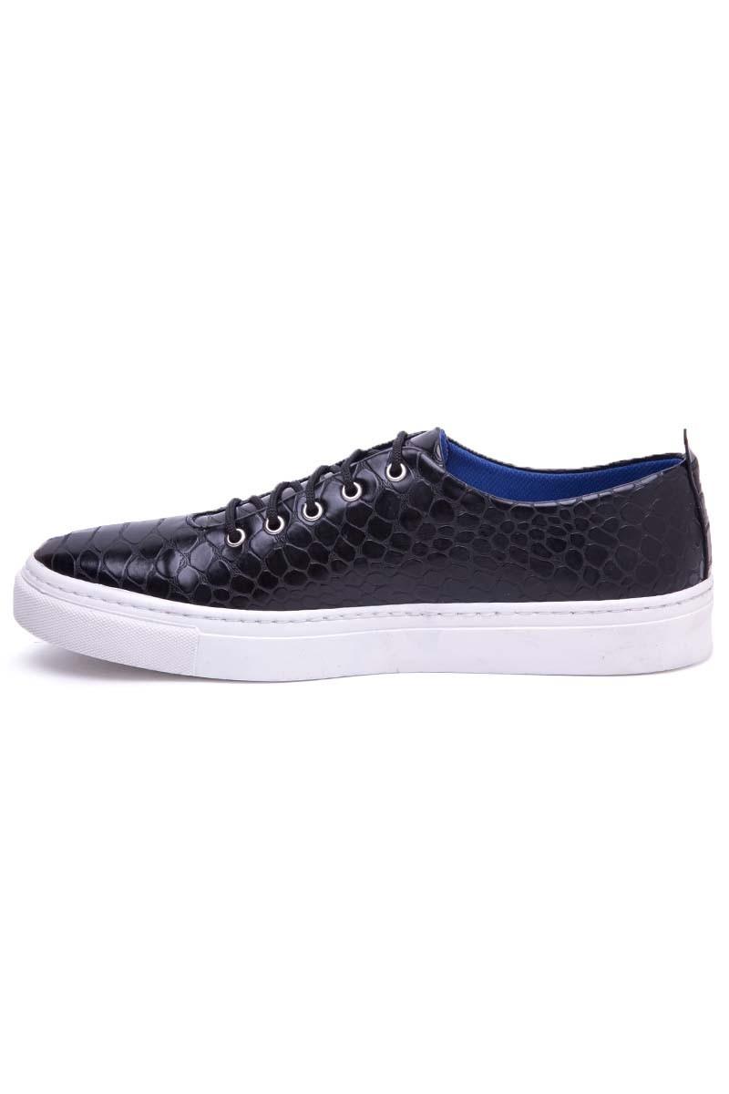 BLUESOIL Siyah BS-20-042-DESENLI Erkek Ayakkabı