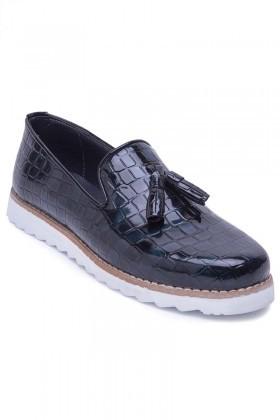 BLUESOIL Petrol Mavisi BS-20-048 Erkek Ayakkabı