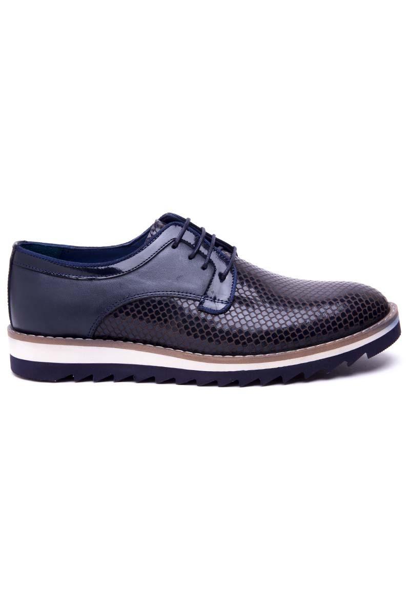 Pandew Lacivert PNDW-800-20 Hakiki Deri Erkek Ayakkabı