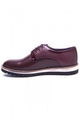Pandew Bordo PNDW-800-20 Hakiki Deri Erkek Ayakkabı