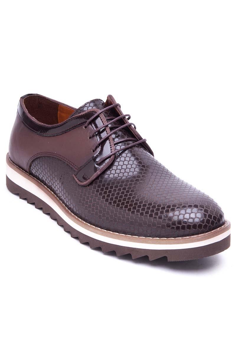 Pandew Kahverengi PNDW-800-20 Hakiki Deri Erkek Ayakkabı