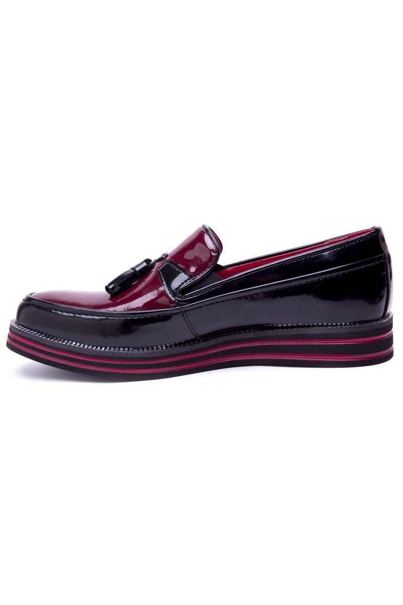 BLUESOIL Siyah-Bordo BS-20-051 Erkek Ayakkabı