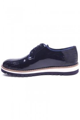 Pandew Lacivert PNDW-800-10 Hakiki Deri Erkek Ayakkabı