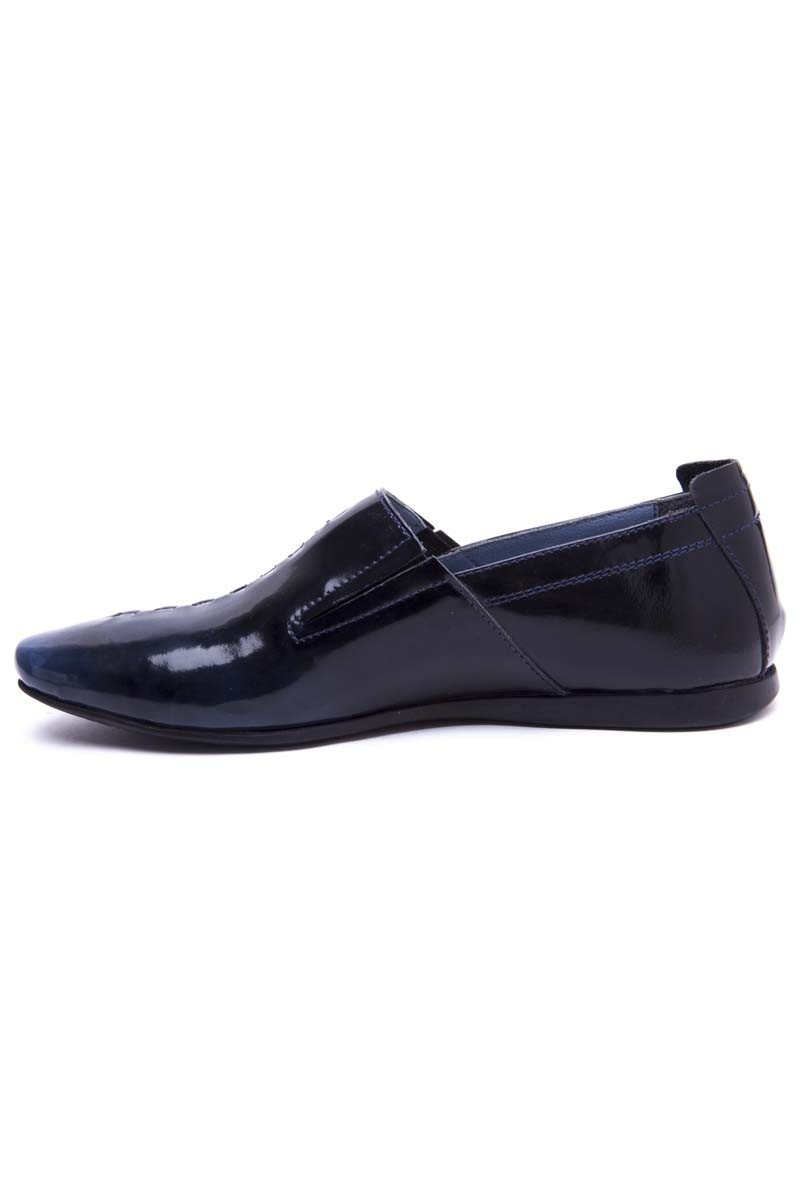 BLUESOIL Lacivert BS-20-19-LACI Hakiki Deri Erkek Ayakkabı