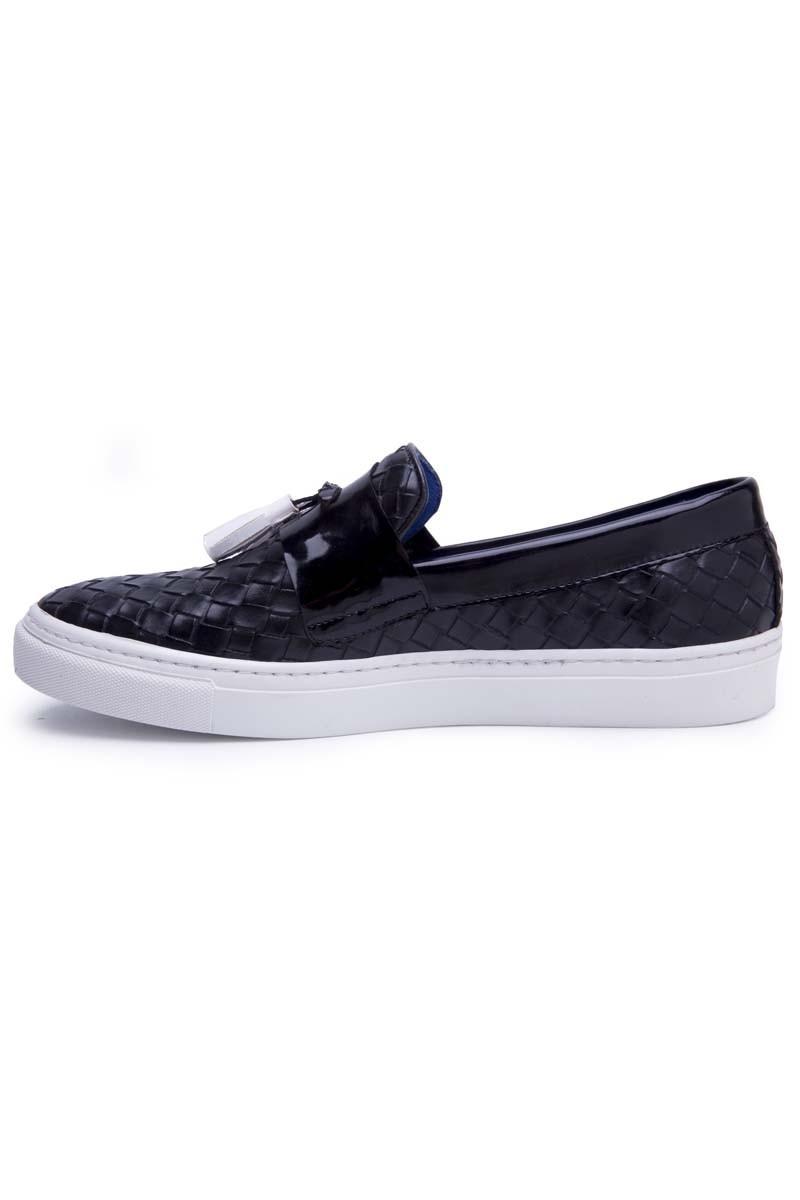 BLUESOIL Siyah-Beyaz BS-20-BJK Erkek Ayakkabı