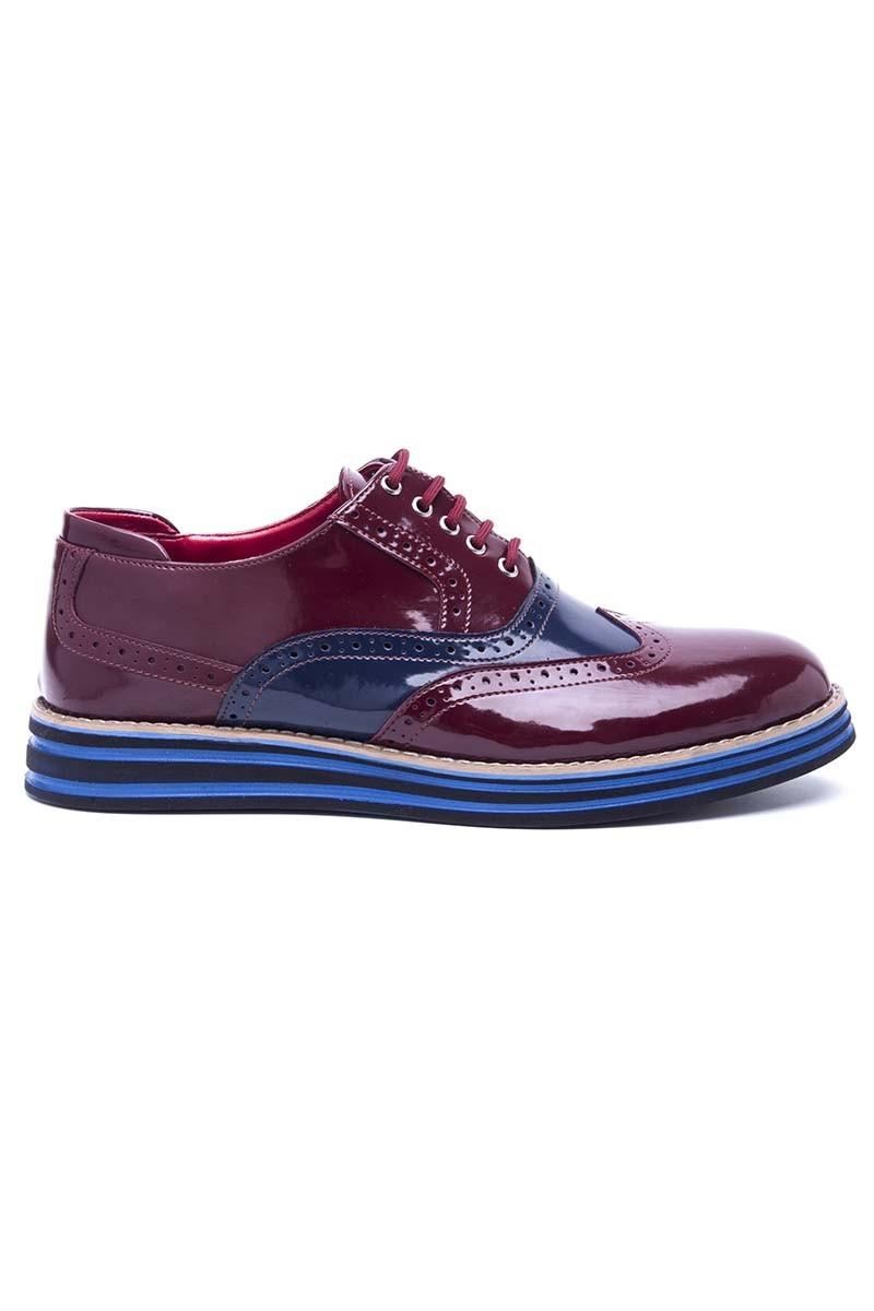 BLUESOIL Bordo-Lacivert BS-20-056 Erkek Ayakkabı