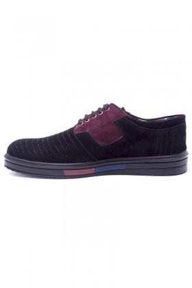 Polomen Siyah PLM-035-SUET Erkek Ayakkabı