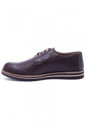 Polomen Kahverengi PLM-026-DERI Erkek Ayakkabı