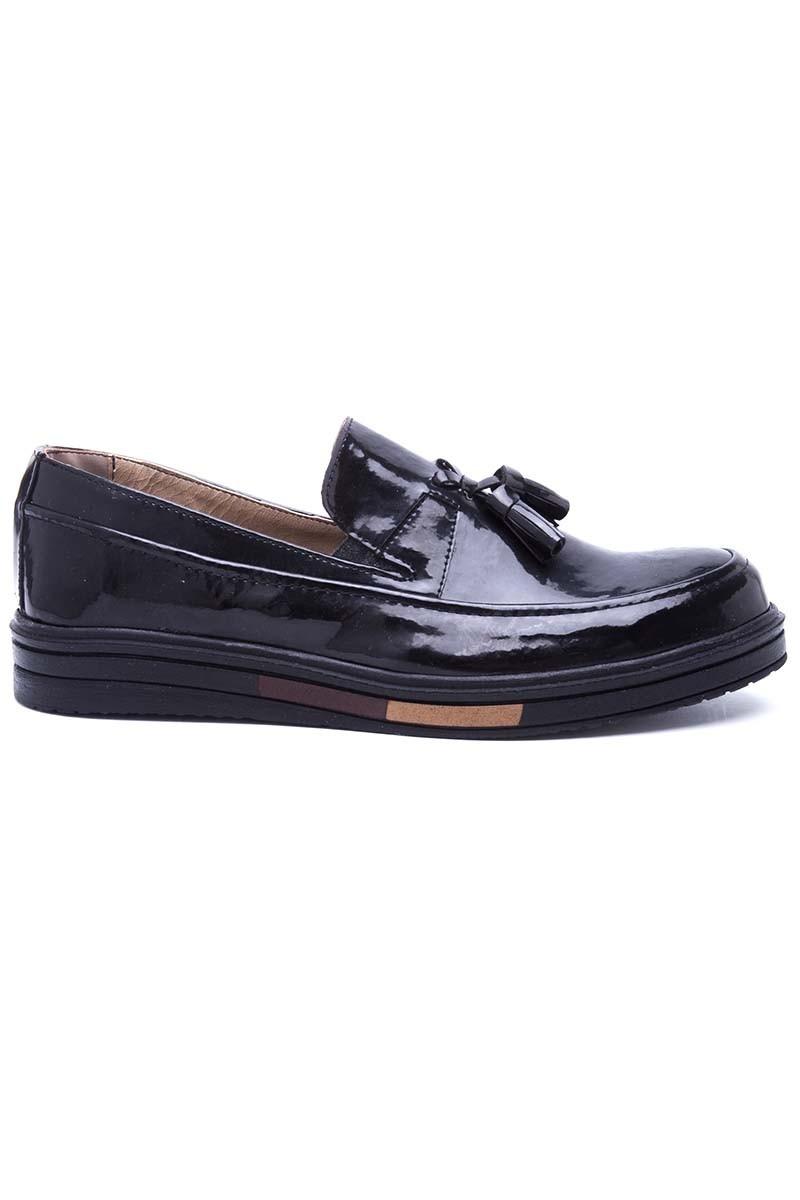 Polomen Siyah PLM-021-RGN Erkek Ayakkabı