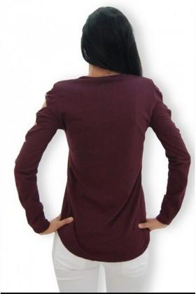 Yeni Elbisem Bordo YEE-4270 Bayan Bluz