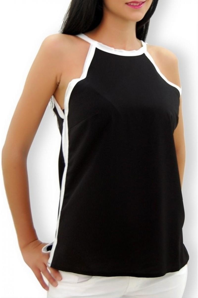 Yeni Elbisem Siyah YEE-4266 Bayan Bluz