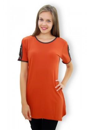 Yeni Elbisem Turuncu YEE-4157 Bayan Bluz