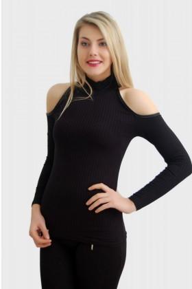 Yeni Elbisem Siyah YEE-2513 Bayan Bluz